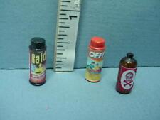 Dollhouse Miniature Bug & Rodent Control #52022,52126, 57005 Hudson River 1/12th