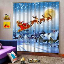 """79x55 """" Weihnachtsmann Fenster Kinderzimmer wasserdicht 2Panels Vorhänge"""