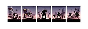 Marvel Avengers - Infinity War Official Odeon 5 Split Poster Paper Prints 24x24""