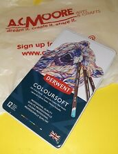 DERWENT COLOURSOFT PENCILS~12 CT COLORED PENCILS~BRAND NEW~BID@$1~DRAW FOR DAYS!
