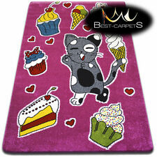 Soft Carpets Bedroom Boys Girls Thick Children Rug 'KIDS' Cookie FUN Rugs LARGE