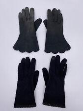 Vintage Women's Evening Formal Gloves - Black 1950s, size 7.5, Lot Of 2