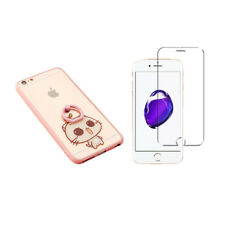 CC Cat Hardcase mit Ring Halter iPhone 8 Plus / 7 Plus Schutzhülle + Panzerglas