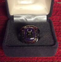 Milwaukee BUCKS NBA TEAM Ring Pick Size Silver & Black NBA Jewelry Special Price