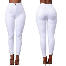 Women Stretch Pencil Pant High Waist Skinny Jeggings Jeans Casual Slim Trouser