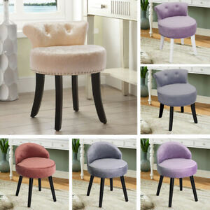 Velvet Fabric Dressing Table Chair Vanity Stool Piano Seats Dining Chairs Lounge