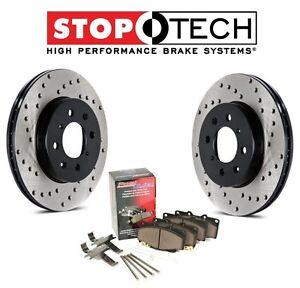 For Honda Civic CRX 90-00 Front Drilled Brake Rotors Metallic Pads Set Kit