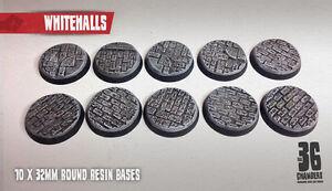 Whitehalls 10 x 32mm round resin cobblestone bases