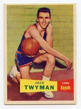 JACK TWYMAN 1957-58 Topps #71 Rookie Card Cincinnati Royals HOF EX-MT+  Nice!!