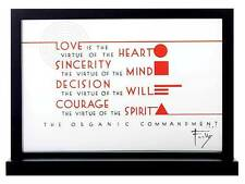 "FRANK LLOYD WRIGHT ""THE ORGANIC COMMANDMENT"" STAINED ART GLASS PANEL DISPLAY"