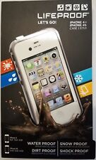 AUTHENTIC IPHONE 4 4S LIFEPROOF FRE WHITE & GRAY BRAND NEW SEALED RETAIL BOX