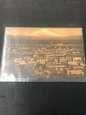 Postcard Mt St Helens From Portland Oregon Stainer Back  Rppc D01