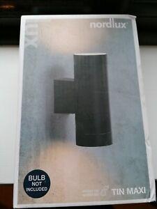 NORDLUX Tin Maxi Outdoor Wall Light, Metal, Black