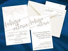 Partecipazioni Nozze Wedding Invitation Inviti Matrimonio Classica Rosa Avorio