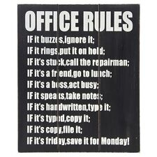 wooden wall art Office rules colleague workmate GIFT new job