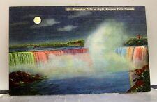Canada Ontario Niagara Falls Horseshoe Night Postcard Old Vintage Card View Post