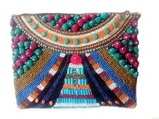 OOAK Rare Unique Vintage Handmade Clutch Indian Ethnic Banjara Sling Purse Bag
