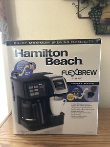 NEW Hamilton Beach FlexBrew Coffee Maker,2-way Single Serve and Full 12 Cup Pot