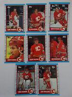 1989-90 Topps Calgary Flames Team Set of 8 Hockey Cards