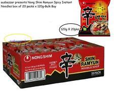 Nong Shim Ramyun Spicy Instant Noodles box of 20 packs x 120g-Bulk Buy