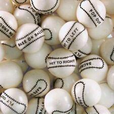 """Baseball Gumballs Bulk Vending 1"""" 24mm 2 Pounds Approx 110 Gum Balls"""