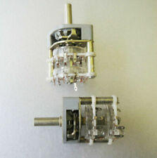 Rotary Switch RFT 2P11T 2 Pole 11 positions NEW NOS Germany, Lot of 2