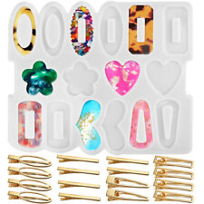 Silicone Resin Epoxy Molds DIY Hair Pin Clip Jewelry Casting Mold for Pendant