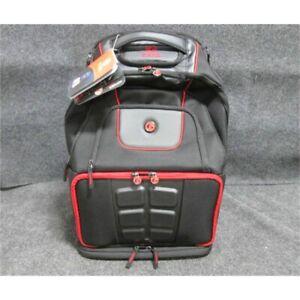 "6 Pack Fitness Voyager 17"" Laptop Backpack, Black/Red, Missing Cold Packs"