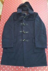 """Vintage Gloverall mens navy wool duffle coat 44"""" EXCELLENT CONDITION"""