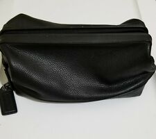 Men's Coach Leather Toiletry Shaving Travel Kit Bag