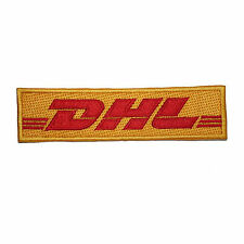 DHL Courier Delivery EMBROIDERED PATCH Badge Iron-on, Sew On 4""