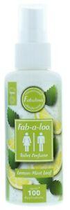 Fabulosa Fab-a-Loo Toilet Water Bathroom Air Freshener Spray 60ml - Lemon Mint