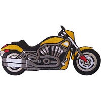 Yellow Chopper Motorcycle Embroidered Iron / Sew On Patch Motorbike Jacket Badge