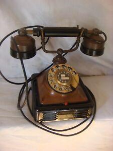 TELEFONO ANTIGUO DE VAQUELITA Y MARMOLINA  (#)