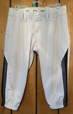 New listing Womens Size L Intensity White Black Striped Knee Length Softball Athletic Pants
