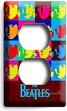 THE BEATLES POP ART JOHN GEORGE PAUL RINGO DUPLEX OUTLET COVER ANDY WARHOL DECOR