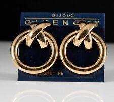 Sleek Vintage Givenchy Bow Hoop Earrings - Pierced