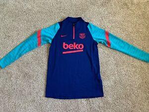 New Nike Men's Blue FCB Dri Fit Long Sleeve Jersey Size M