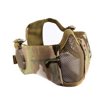 OneTigris Tactical Foldable Half Face Airsoft Face Mesh Mask with Ear Protection