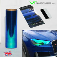 30 x 100cm Blue [ Chameleon ] Headlight Tint Film Car Taillights + FREE SQUEEGEE