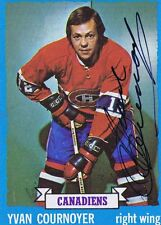 Yvan Cournoyer 1973 Topps Autograph #115 Canadiens