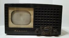 "Rare 1949 Admiral 19A1-S-A Tv ""Checkerboard"" grill, black Bakelite 35%off"
