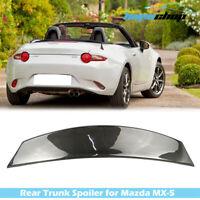 Fit For Mazda MX5 MX-5 Miata Roadster ND P Style Rear Trunk Spoiler Carbon Fiber