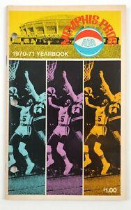 1970-71 ABA Memphis Pros TV Radio Media Press Guide Program Yearbook