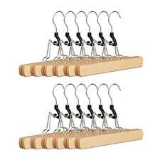 Relaxdays Set 12 Grucce con Morsetto in legno Pinze per Pantaloni &
