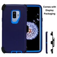 For Samsung Galaxy S9 Plus Case Cover(Belt Clip Fits Otterbox Defender) NAVY