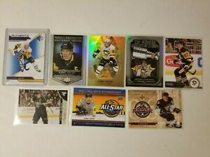 Sidney Crosby Pittsburgh Penguins 8 card NHL lot.Tim Horton's/Upper Deck/Score.