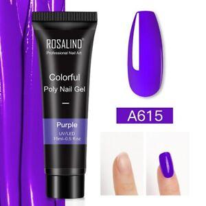 UV Poly Gel Nails Builder Polygel Kit Extension Acrylic Nail Art 77 Colors Shiny