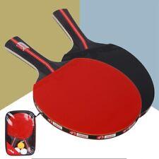 Table Tennis Bat Long Handle Horizontal Grip Double Face Ping Pong Racket Set