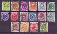 Bund 1951 - Posthorn - MiNr. 123/138 rund gestempelt - Michel 50,00 € (920)